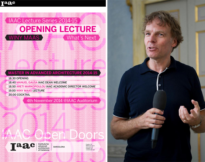 "Winy Maas opening lecture at ""Institute for Advanced Architecture of Catalonia"", Spain"