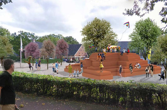 MVRDV's design for a folly on display at Fraeylemaborg near Groningen from February 22nd