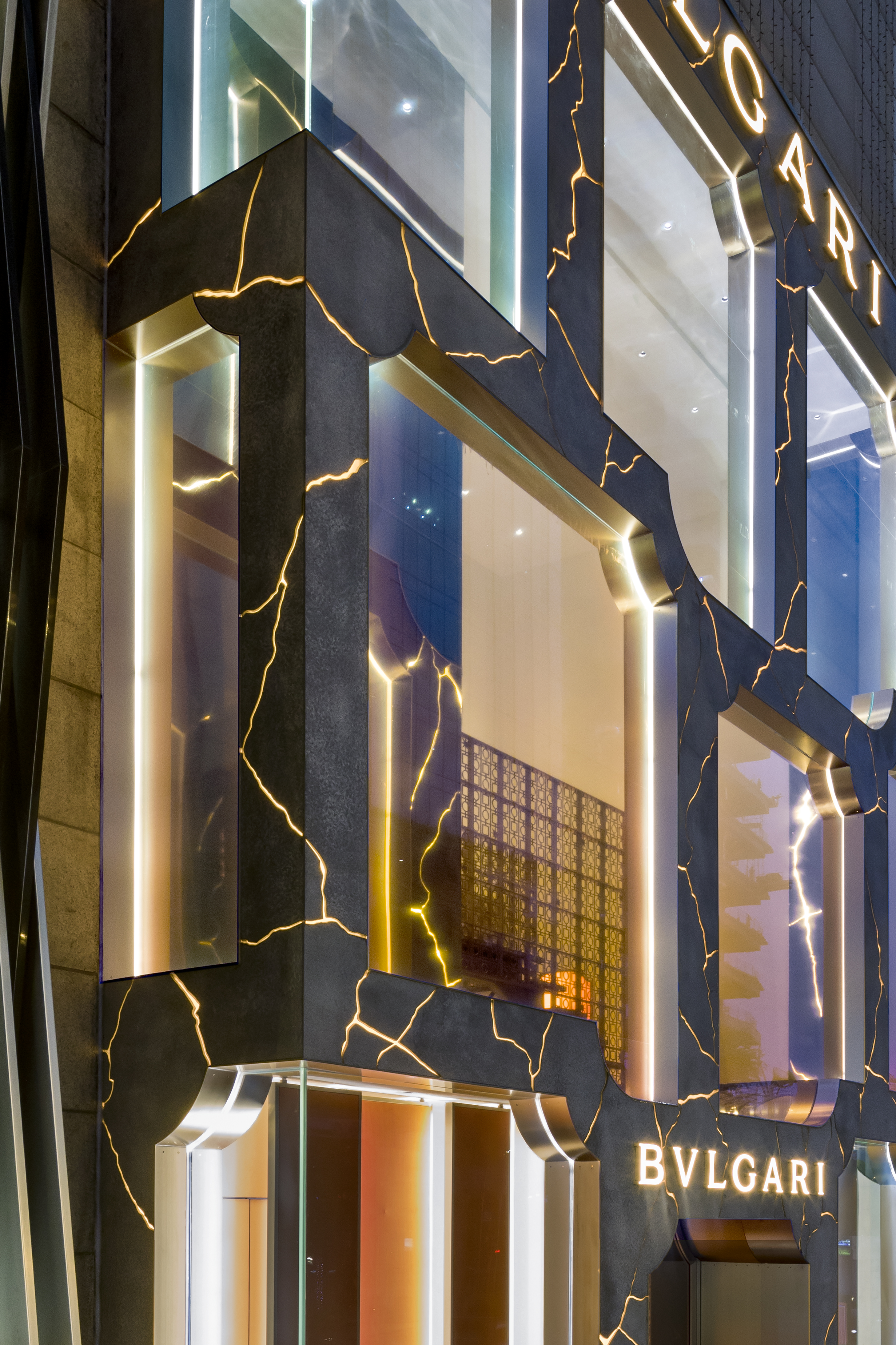 MVRDV complete Bulgari Kuala Lumpur's flagship store with a reinvented marble and light permeating façade