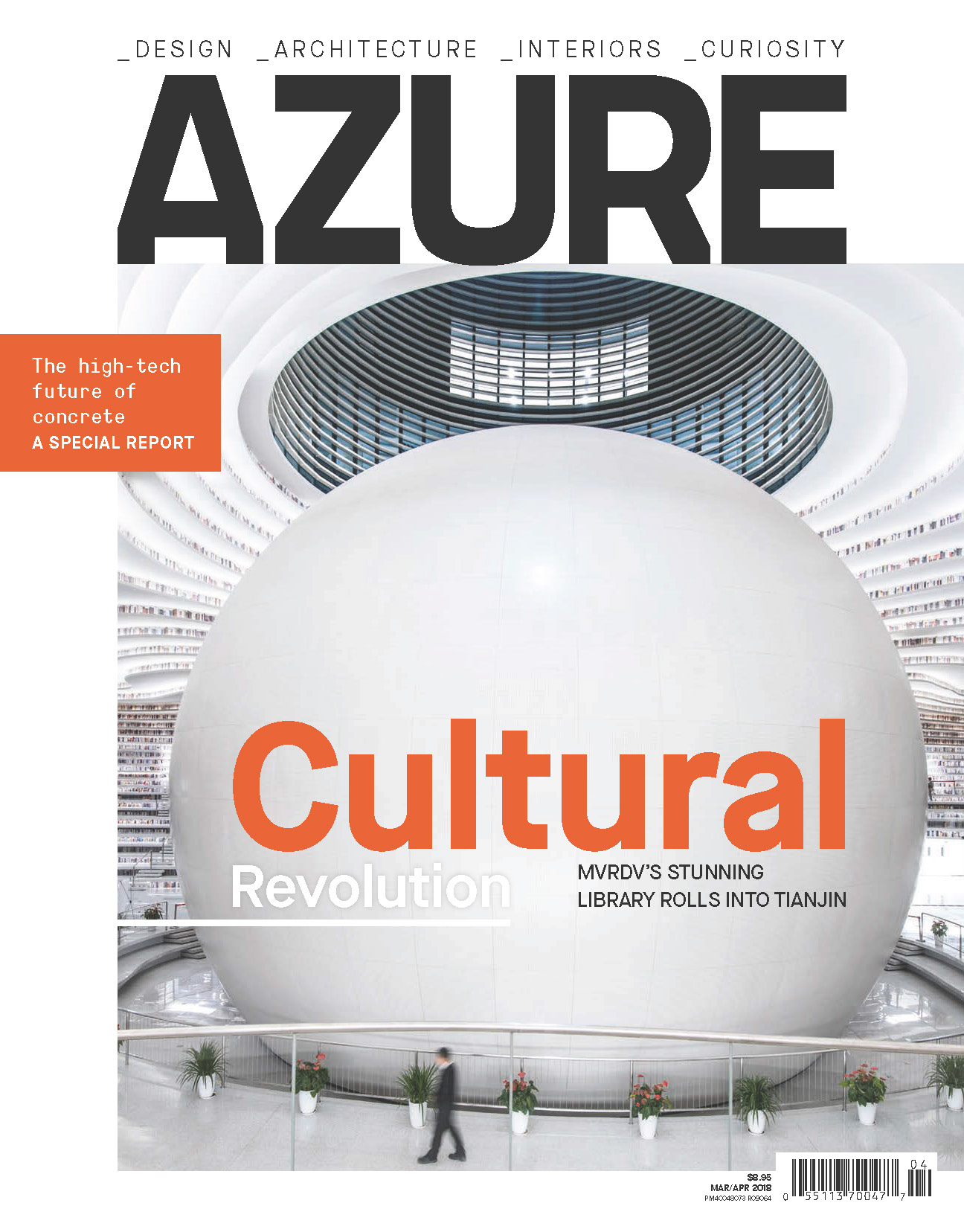Tinajin Binhai Library is Azure Magazine's Mar/April Icons issue cover