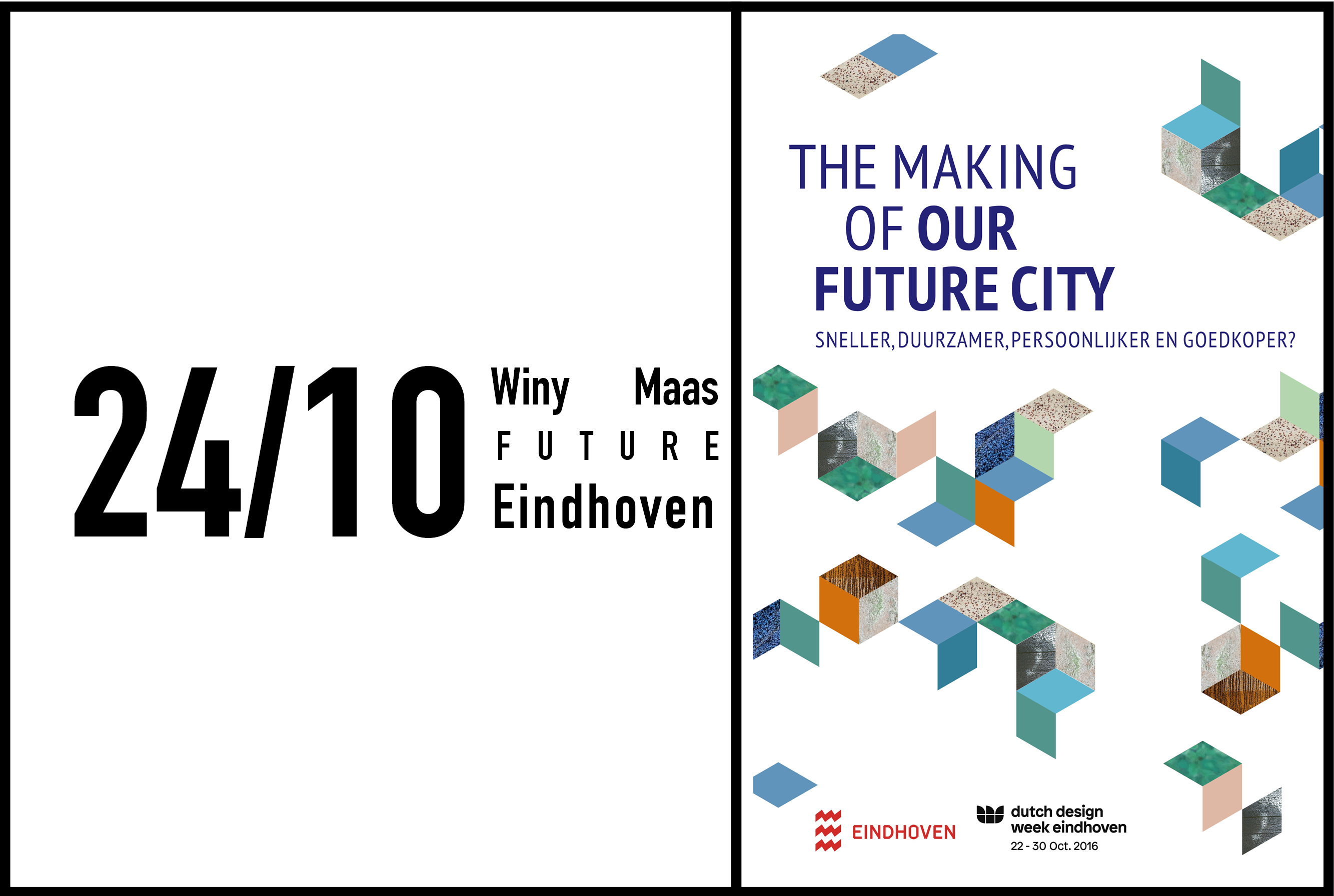 Winy Maas gives a keynote lecture at The Making of Our Future City, 24th October 2016