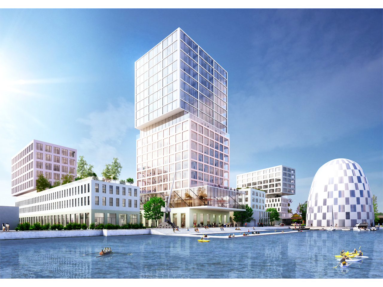 Construction begins on the first phase of Hamburg Innovation Port, a 60,000m2 mixed-use masterplan