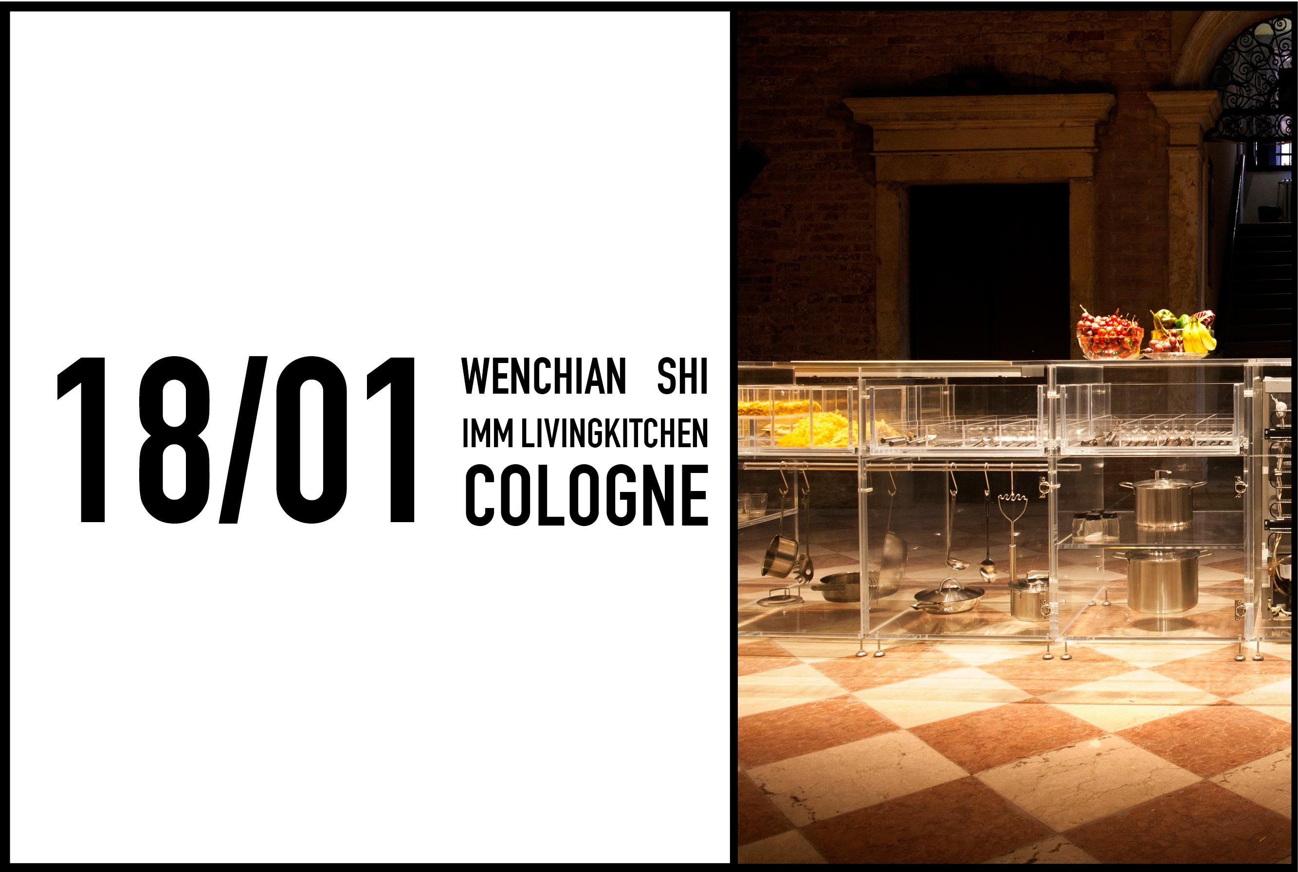 Wenchian Shi to speak about Infinity Kitchen at IMM LvingKitchen in Cologne, 18 January 2017