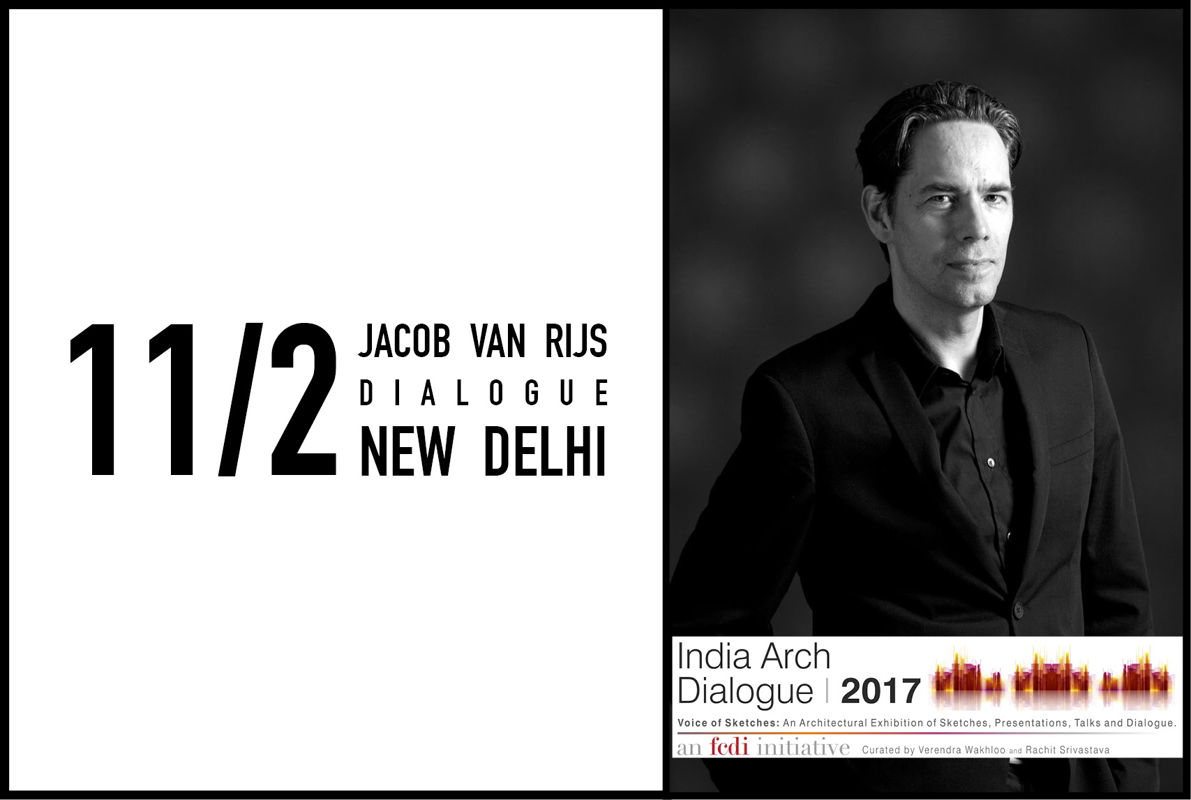 Jacob van Rijs to give lecture at India Arch Dialogues in New Delhi, India, 11 February 2017