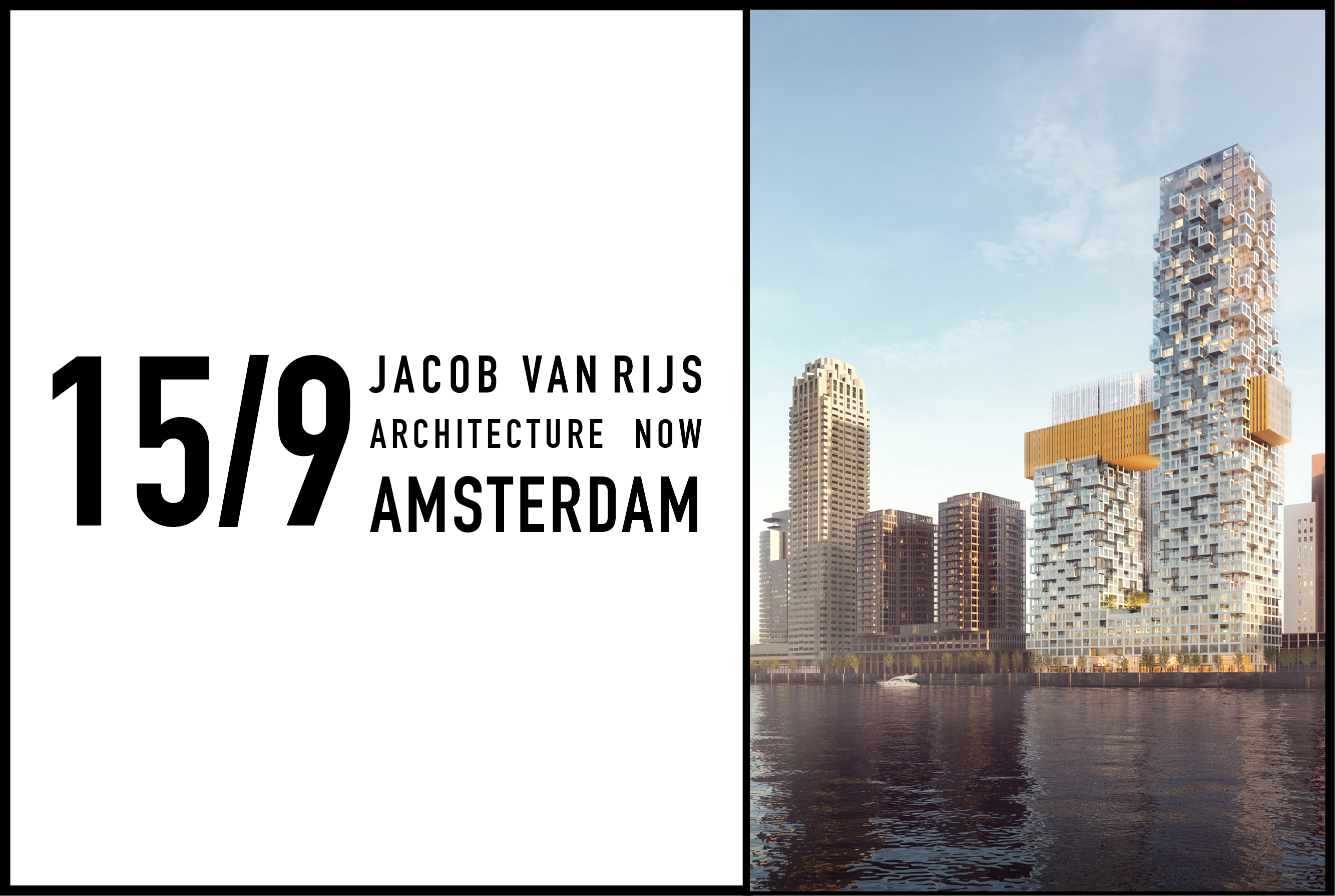 Jacob van Rijs to speak about Architecture in Rotterdam at Pakhuis de Zwijger, 15 September 2017