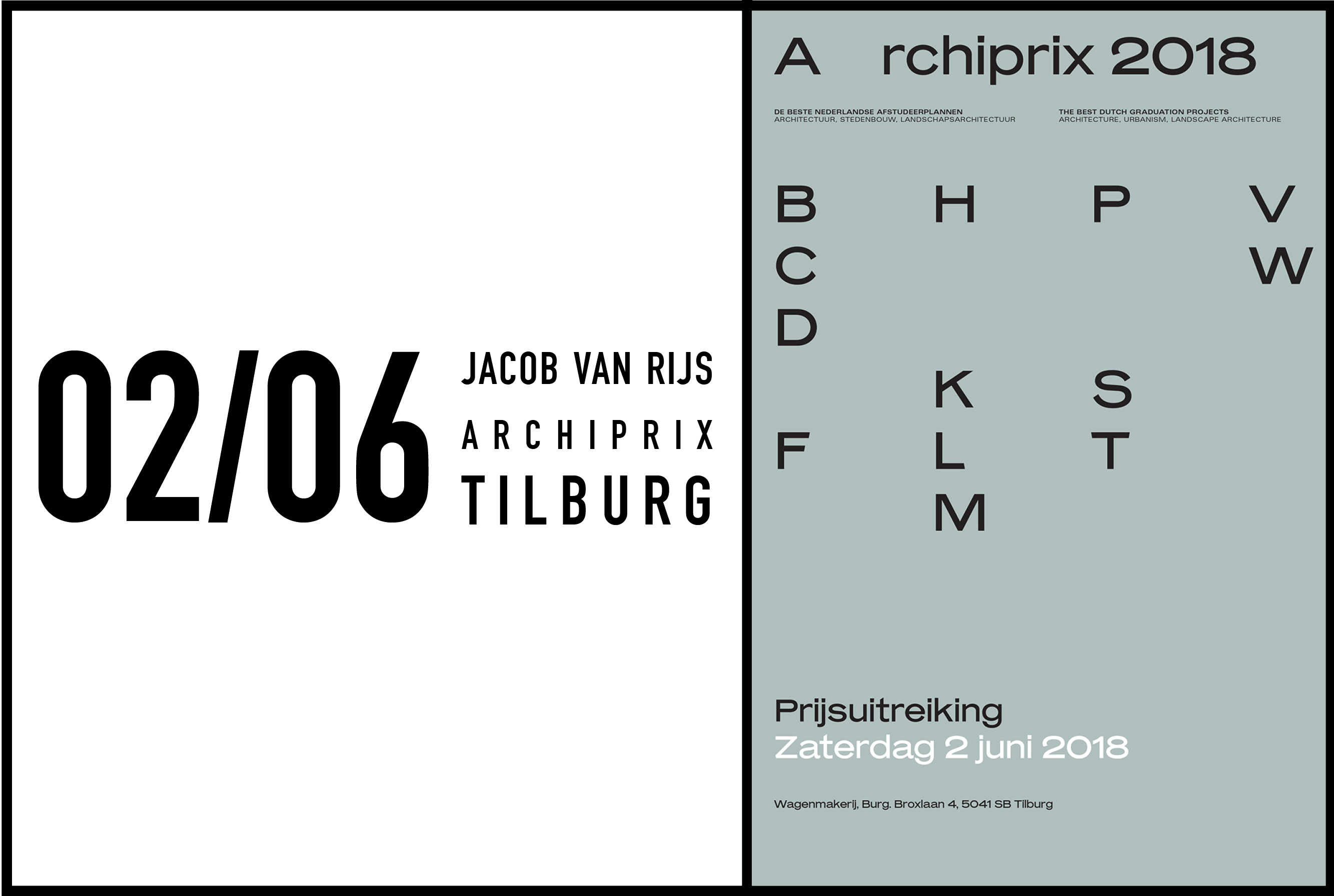 Jacob Van Rijs to give welcome address at Archiprix Netherlands Awards, 2 June 2018