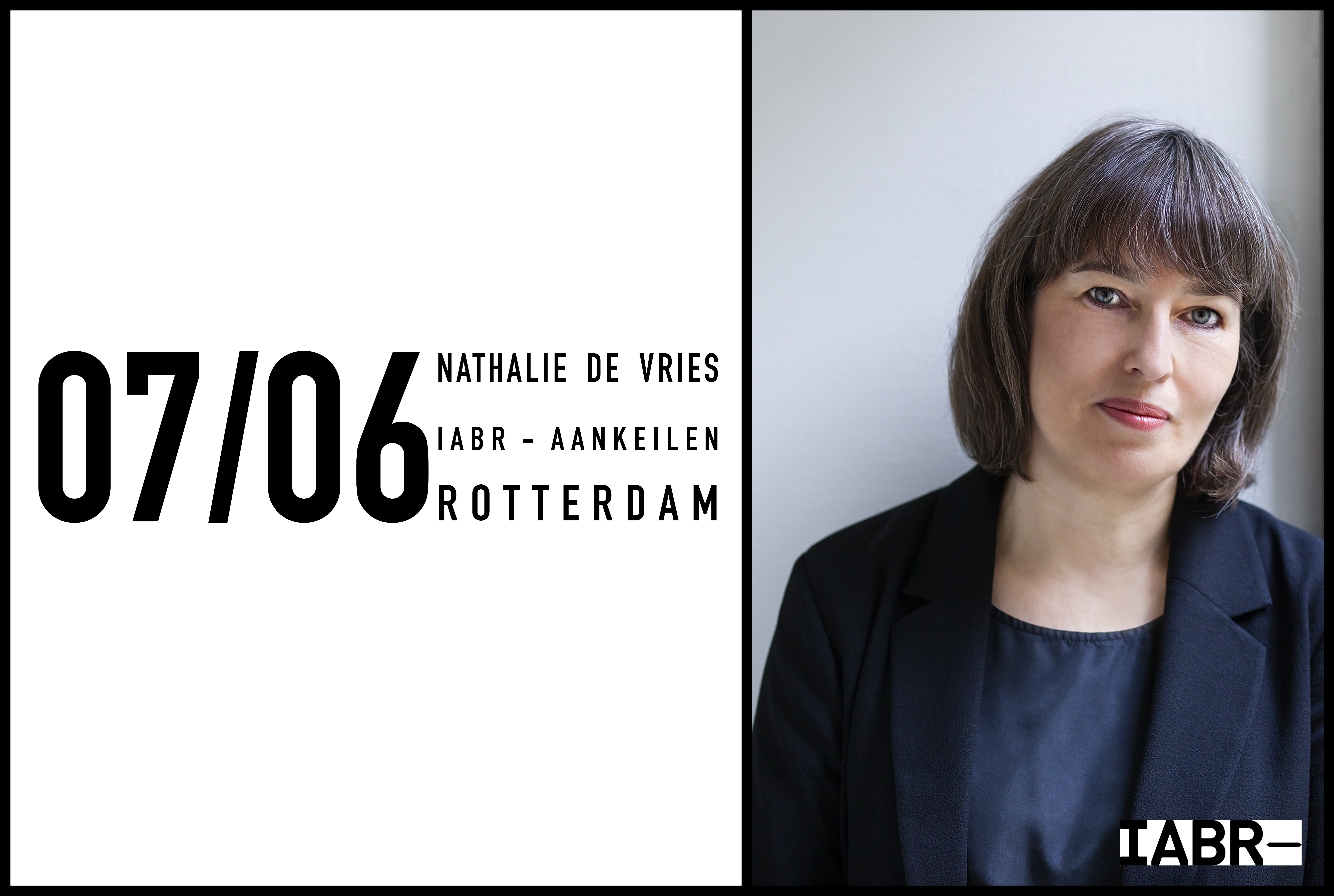 Nathalie de Vries to take part in table discussion at IABR