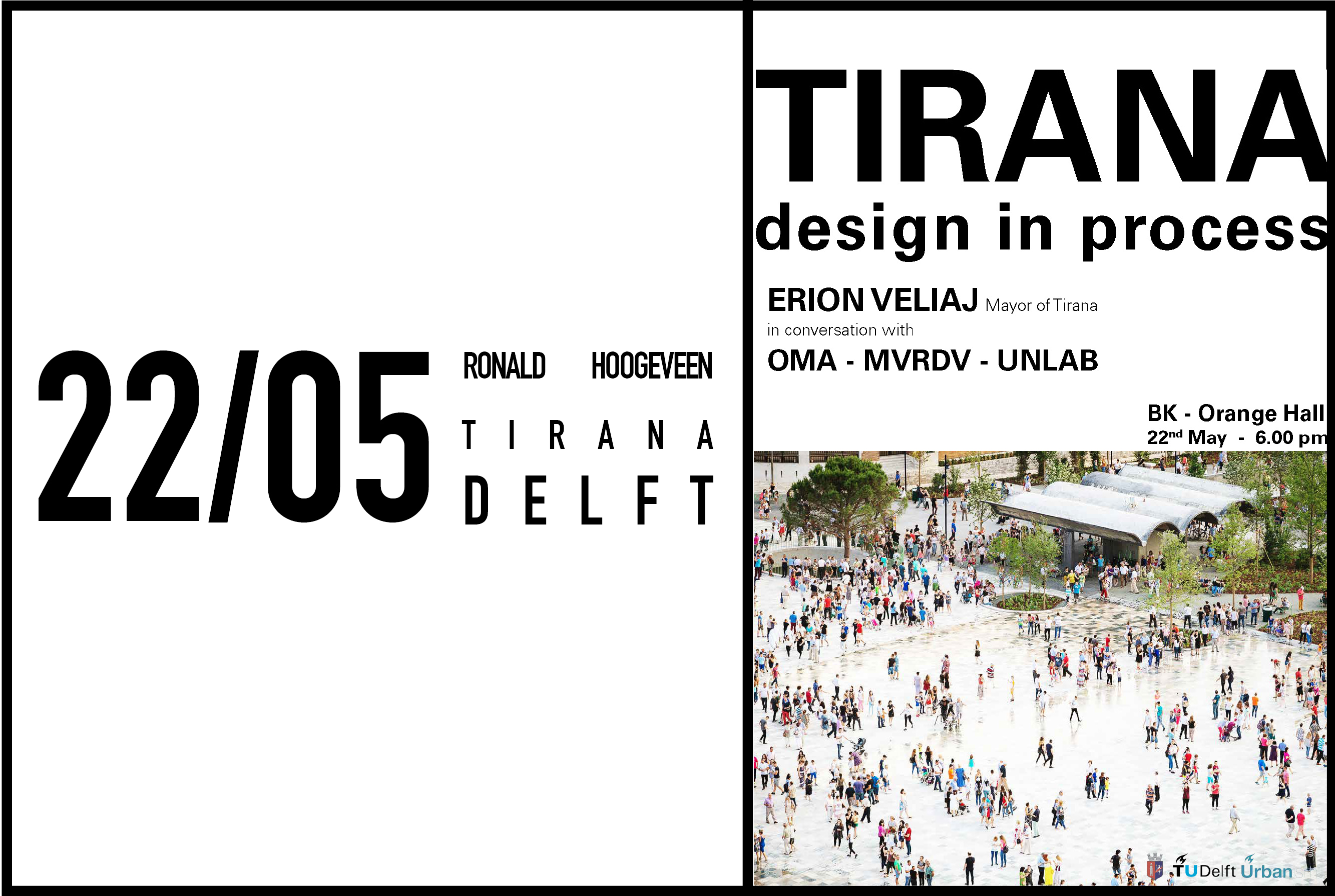Ronald Hoogeveen speaking on Tirana Design at TU Delft