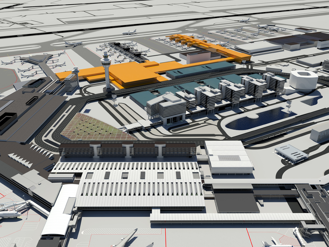 MVRDV, Kohn Pedersen Fox Associates (KPF) and Meinhardt Group in final stage for Amsterdam Airport Schiphol's new terminal