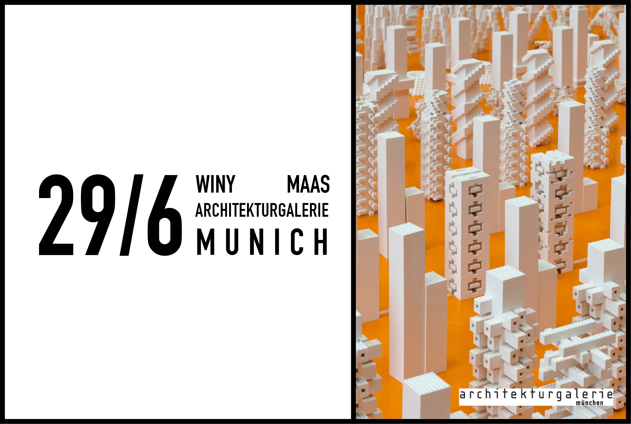 Winy Maas to give presentation at TU Munich to coincide with The Why Factory exhibition at Architekturgalerie, 29 June 2017