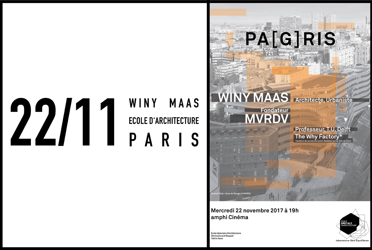 Winy lectures in Paris at École Spéciale d'Architecture, 22 November 2017
