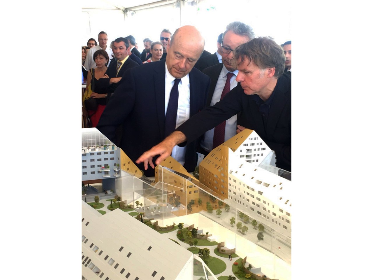 Ground  Breaking Ceremony for Ilot Queyries, Bordeaux