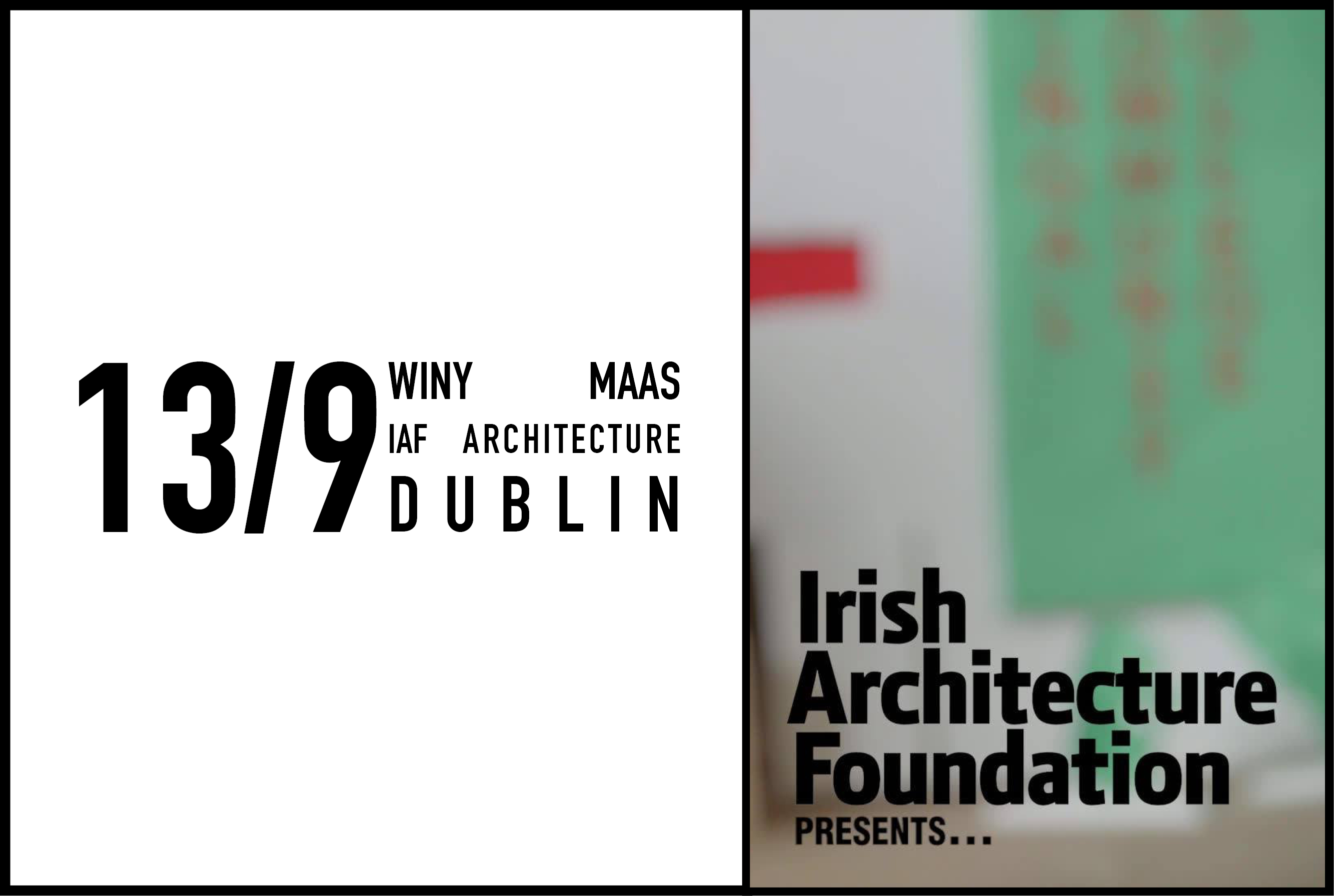 Winy Maas speaks at the Irish Architecture Foundation, 13 September 2017