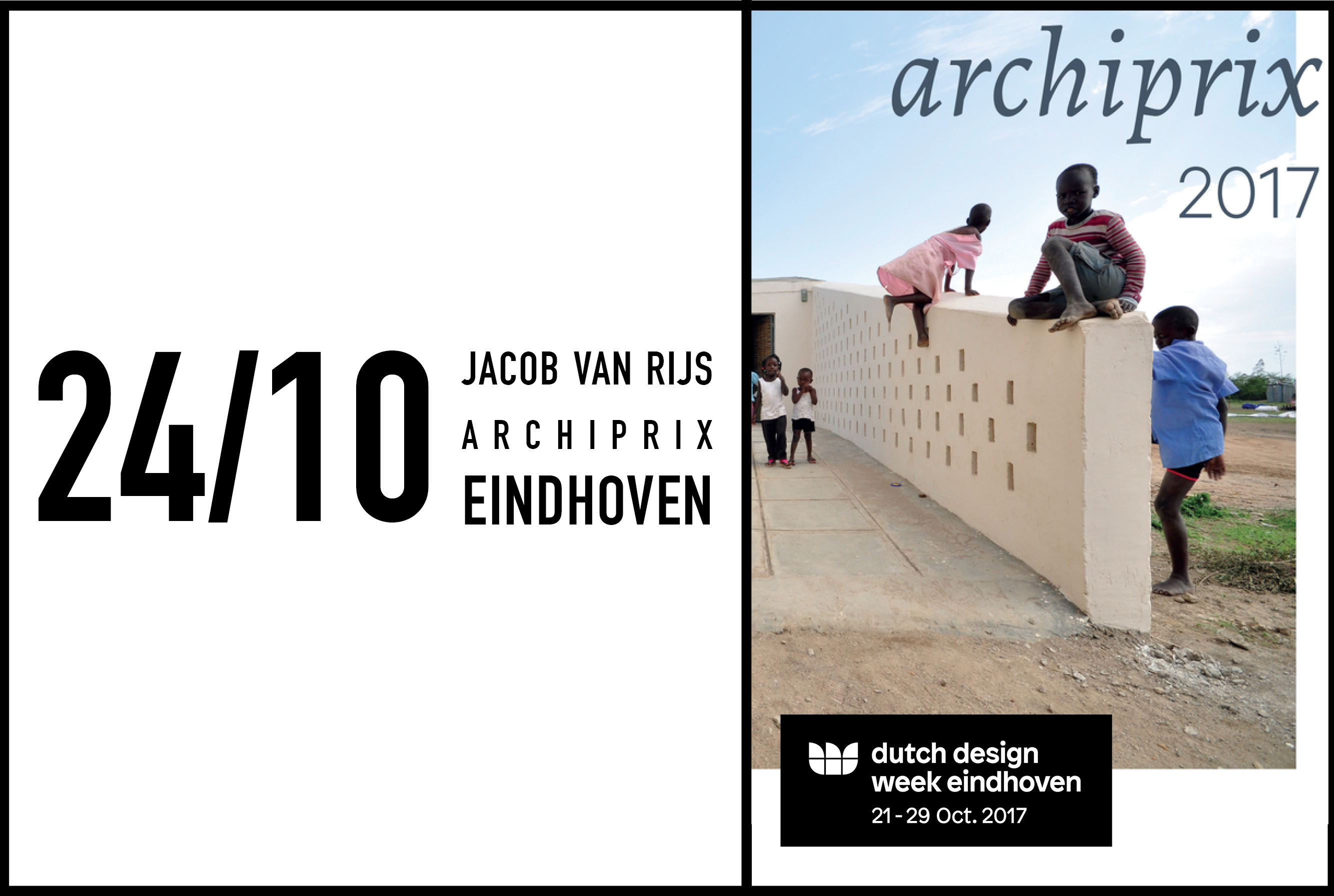 Archiprix exhibition opening with Chairman Jacob van Rijs at the Dutch Design Week '17, 24 October 2017