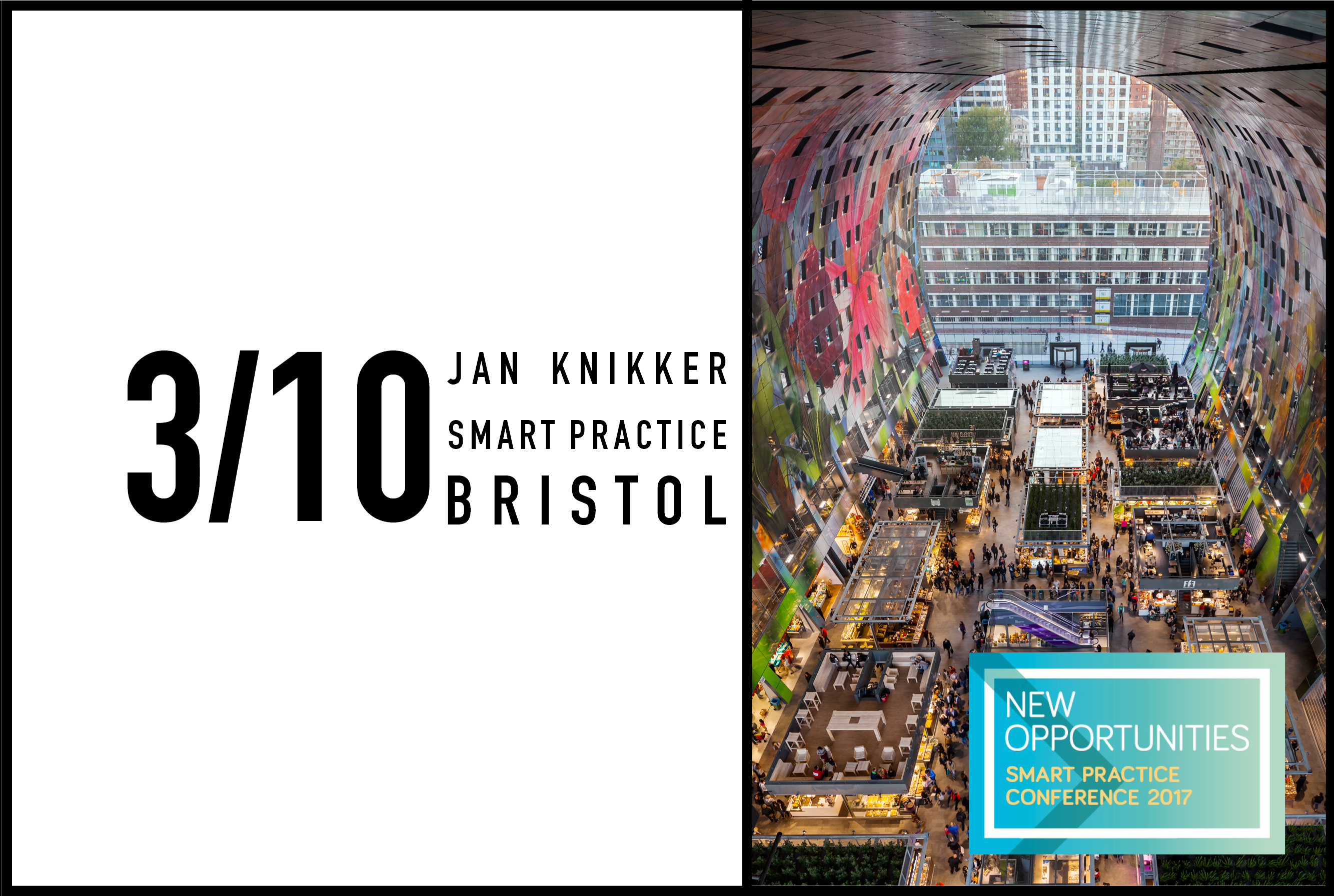 Jan Knikker to be keynote speaker at Riba's Smart Practice Conference 2017: New Opportunities, 3 October 2017