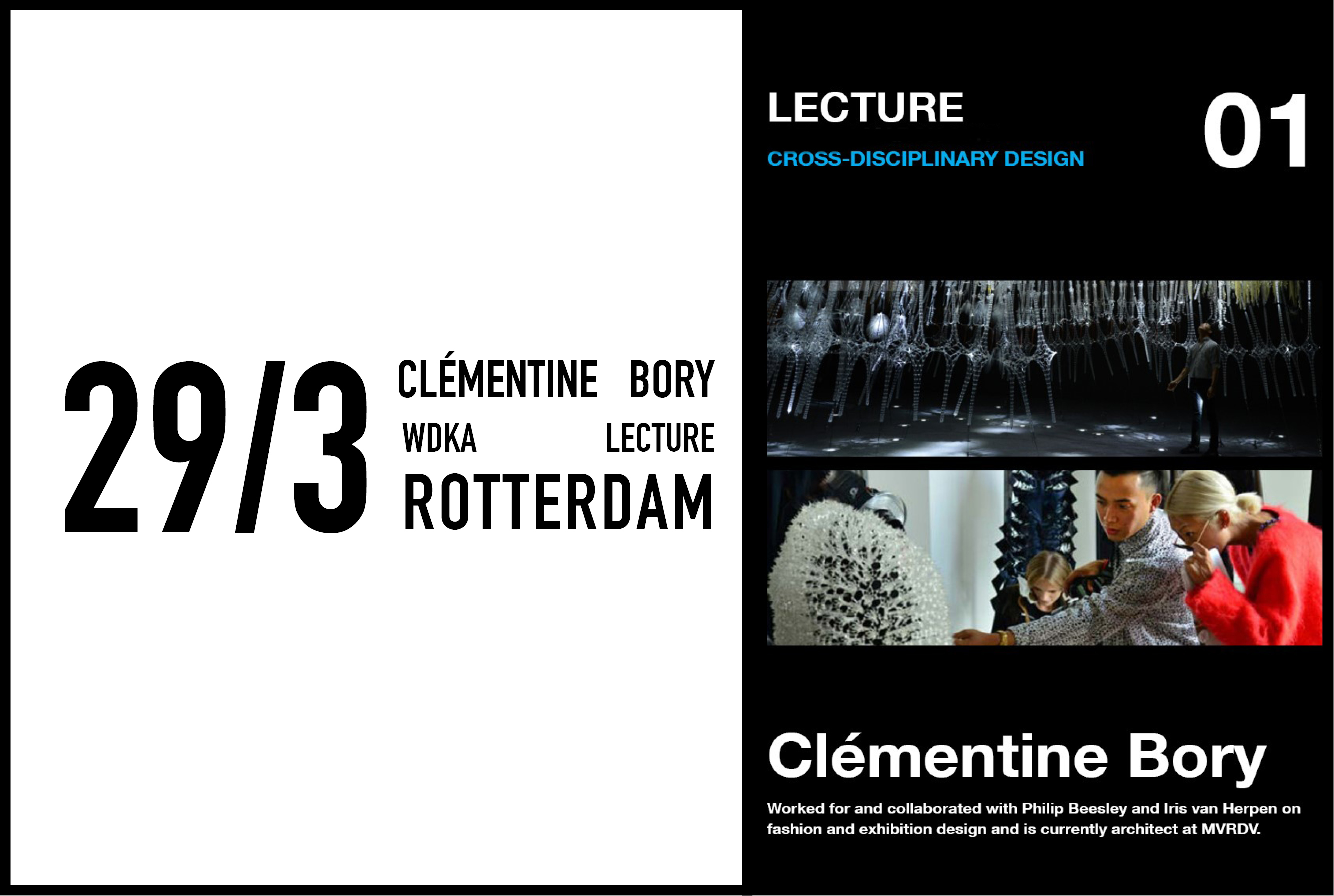 Clémentine Bory to give a lecture on fashion and exhibition design, 29 March 2017