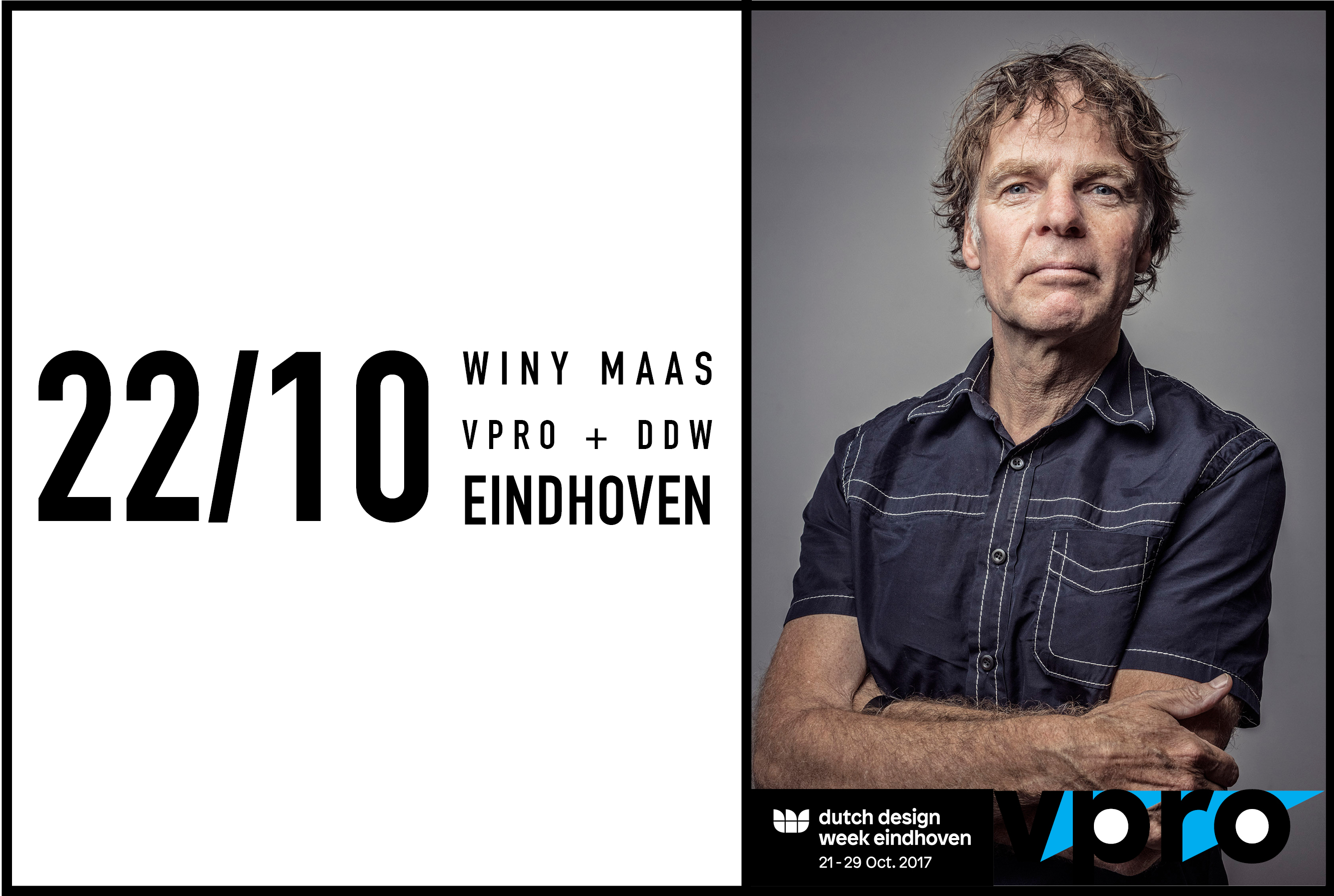 VPRO Day With Winy Maas as keynote speaker during Dutch Design Week in Eindhoven, 22 October 2017