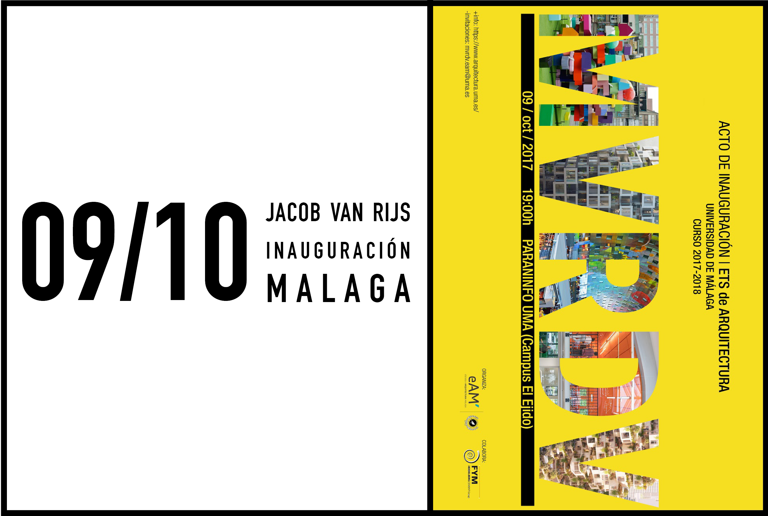 Jacob van Rijs to give inaugural speech at Universidad de Málaga, 9 october 2017
