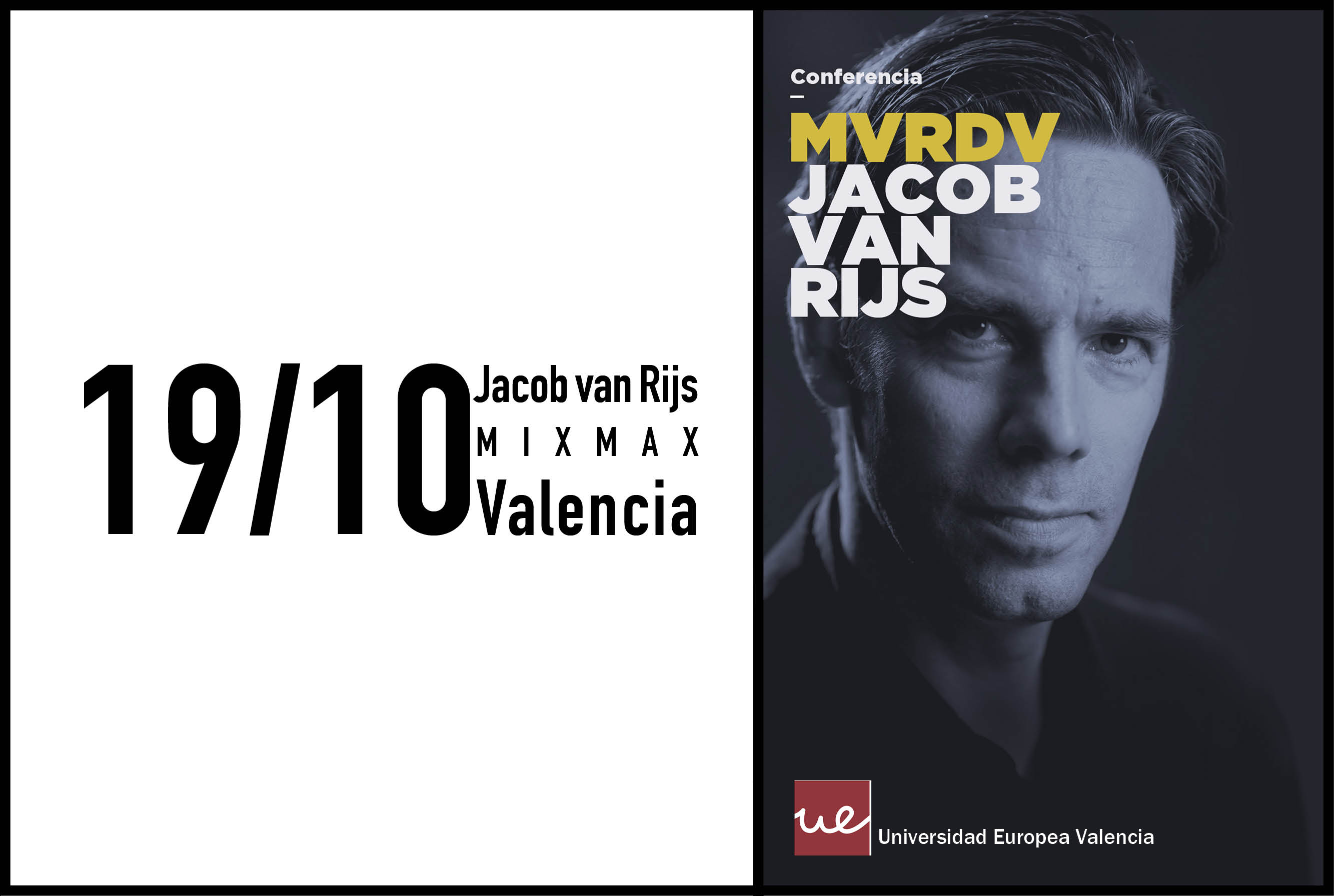 Jacob van Rijs to give a lecture at the Universidad Europea de Valencia, 19th  October 2016