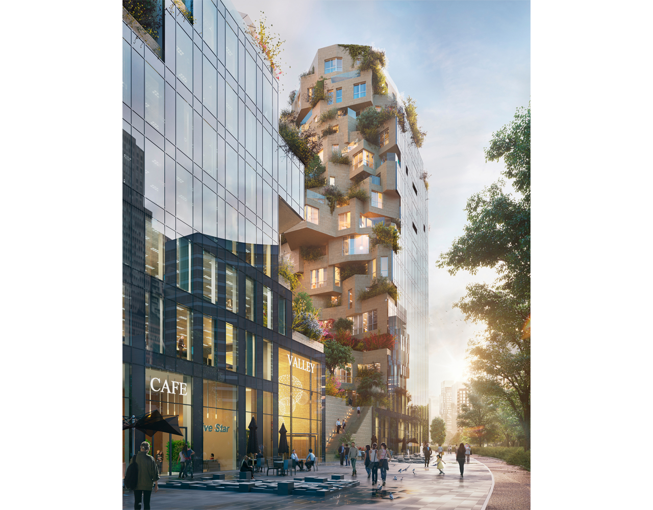 Valley breaks ground, MVRDV's 75,000m2 mixed-use competition-winning  building for OVG Real Estate