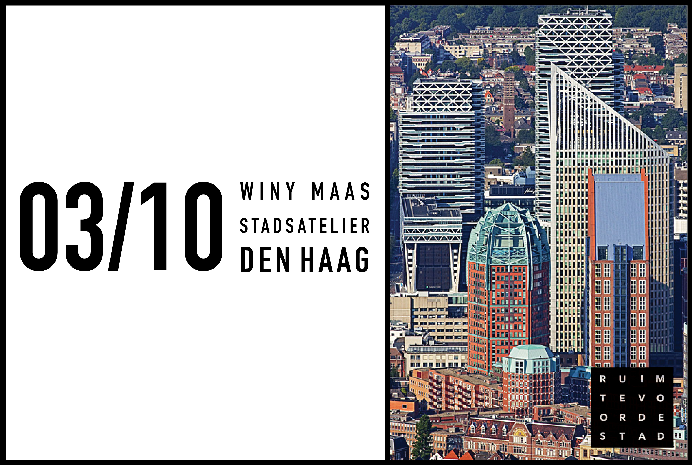 Winy Maas takes part in seminar about public space and densification of Den Haag, 3 October 2017